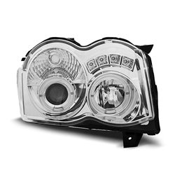 Fari Angel Eyes Chrysler Jeep Grand Cherokee 08-10 Chrome