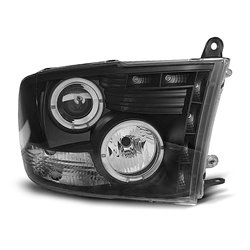 Fari Angel Eyes con LED stile luce diurna Dodge Ram 09-11 Neri