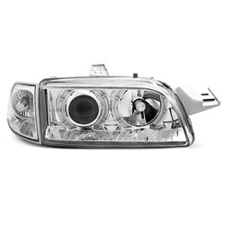 Fari Angel Eyes Fiat Punto I 93-99 Chrome