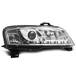 Coppia di fari a Led stile luce diurna Fiat Stilo 01-08 Chrome