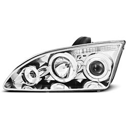 Fari Angel Eyes Ford Focus MK2 04-08 Chrome