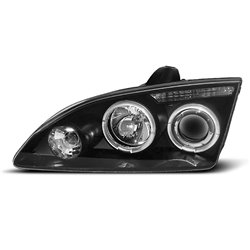 Fari Angel Eyes Ford Focus MK2 04-08 Neri