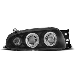 Fari Angel Eyes Ford Fiesta MK4 95-99 Neri