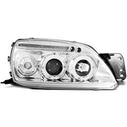 Fari Angel Eyes Ford Fiesta MK5 99-02 Chrome