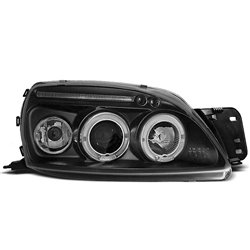 Fari Angel Eyes Ford Fiesta MK5 99-02 Neri