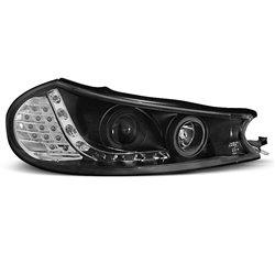 Coppia di fari a Led stile luce diurna Ford Mondeo MK2 96-00 Neri