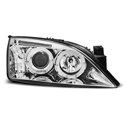 Fari Angel Eyes Ford Mondeo MK3 00-07 Chrome
