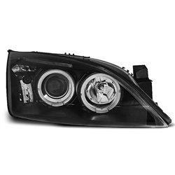 Fari Angel Eyes Ford Mondeo MK3 00-07 Neri