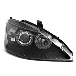 Fari Angel Eyes Ford Focus MK1 01-04 Neri