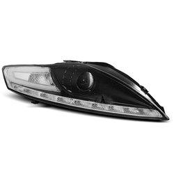Coppia di fari a Led stile luce diurna Ford Mondeo MK4 07-10 Neri