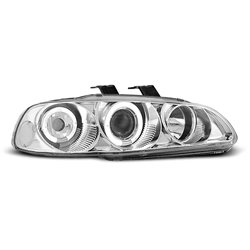 Fari Angel Eyes Honda Civic 5 91-95 Chrome