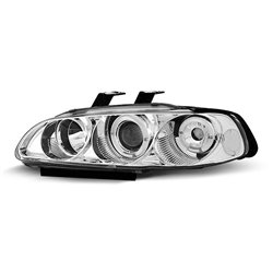 Fari Angel Eyes Honda Civic 5 91-95 Berlina Chrome