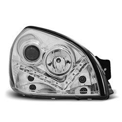 Coppia di fari a Led stile luce diurna Hyundai Tucson 04-10 Chrome