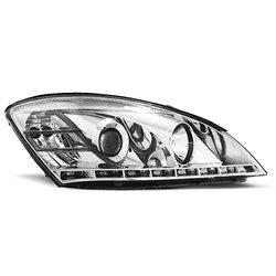 Coppia di fari a Led stile luce diurna Kia Ceed 06-09 Chrome