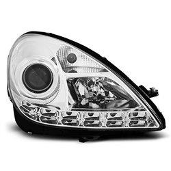 Coppia di fari a Led stile luce diurna Mercedes SLK R171 04-11 Chrome