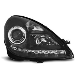Coppia di fari a Led stile luce diurna Mercedes SLK R171 04-11 Neri