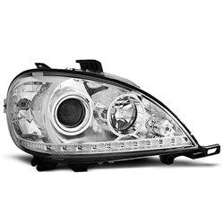 Coppia di fari a Led stile luce diurna Mercedes Classe M W163 98-01 Chrome