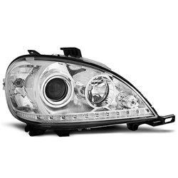 Coppia di fari a Led stile luce diurna Mercedes Classe M W163 01-05 Chrome