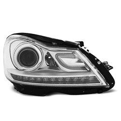 Coppia di fari a Led stile luce diurna Mercedes Classe C W204 2011 Chrome