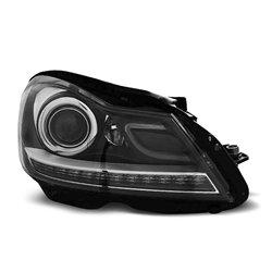 Coppia di fari a Led stile luce diurna Mercedes Classe C W204 2011- Neri