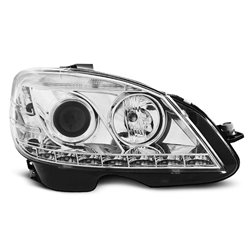 Coppia di fari LED Design Mercedes Classe C W204 07-10 Chrome