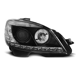 Coppia di fari LED Design Mercedes Classe C W204 07-10 Neri