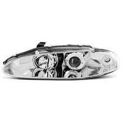 Coppia di fari Angel Eyes Mitsubishi Eclipse 95-96 Chrome