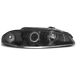 Coppia di fari Angel Eyes Mitsubishi Eclipse 97-98 Neri