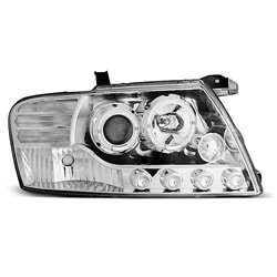 Coppia di fari Angel Eyes Mitsubishi Pajero V60 01-06 Chrome