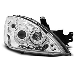 Coppia di fari Angel Eyes CCFL Mitsubishi Lancer VII 04-07 Chrome