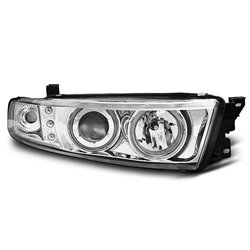 Coppia di fari Angel Eyes CCFL Mitsubishi Galant 8 96-06 Chrome