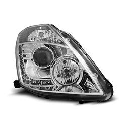 Coppia di fari Xenon a Led stile luce diurna Nissan 350Z 03-05 Chrome