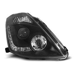 Coppia di fari Xenon e Led stile luce diurna Nissan 350Z 03-05 Neri