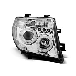 Coppia di fari Angel Eyes Nissan Navara 05-10 Chrome