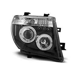 Coppia di fari Angel Eyes Nissan Navara 05-10 Neri