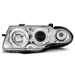 Coppia di fari Angel Eyes Opel Astra F 91-94 Chrome