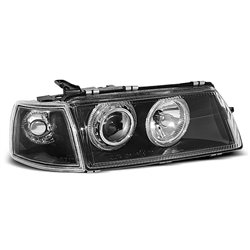 Coppia di fari Angel Eyes Opel Vectra A 88-95 Neri
