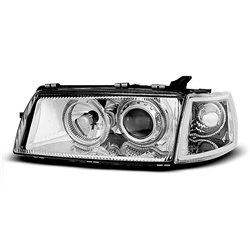 Coppia di fari Angel Eyes Opel Vectra A 88-95 Chrome