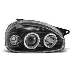 Coppia di fari Angel Eyes Opel Corsa B 93-00 Neri