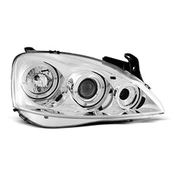 Coppia di fari Angel Eyes Opel Corsa C 00-06 Chrome
