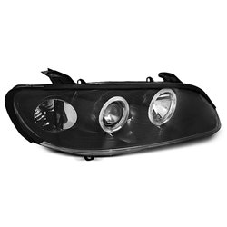 Coppia di fari Angel Eyes Opel Omega B 94-99 Neri