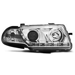 Coppia di fari a Led stile luce diurna Opel Astra F 91-94 Chrome