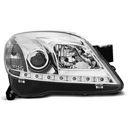 Coppia di fari a Led stile luce diurna Opel Astra H 04-10 Chrome