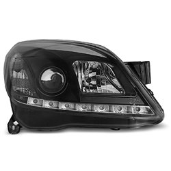 Coppia di fari a Led stile luce diurna Opel Astra H 04-10 Neri