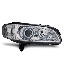 Coppia di fari Angel Eyes Opel Omega B 94-99 Chrome