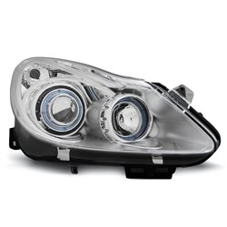 Coppia di fari Angel Eyes Opel Corsa D 2006 Chrome