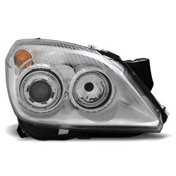 Coppia di fari Angel Eyes Opel Astra H 04-10 Chrome