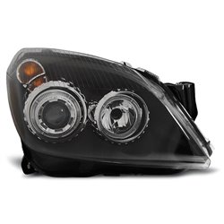 Coppia di fari Angel Eyes Opel Astra H 04-10 Neri