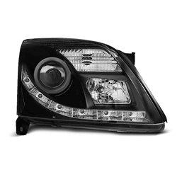 Fari Led vera luce diurna e Xenon Opel Vectra C 02-05 Neri