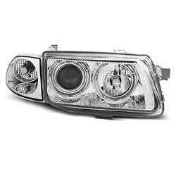 Coppia di fari Angel Eyes Opel Astra F 94-97 Chrome
